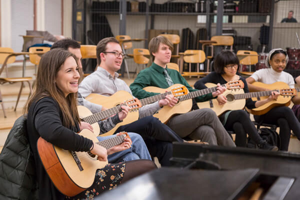 Music Ed class at Teachers College